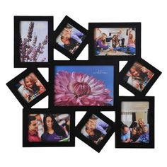 9 Opening Black Wooden Wall Collage Photo Picture Frame Wall Art, Holds One 5x7 Inch, Four 3x3 Inch, Two 3.5x5 Inch, Two 5x3.5 Inch Photos by ADECO, http://www.amazon.com/dp/B009CHID5G/ref=cm_sw_r_pi_dp_QEtzqb0SJ5H07