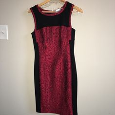 Valentine's Dress - Yoana Baraschi Amazing red and black fitted dress. Bought from neiman Marcus for an event and never got to wear. Originally paid $350+. Yoana baraschi Dresses Midi