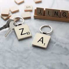 Our Scrabble® letter keyring makes a great gift for any lexophile on your list.