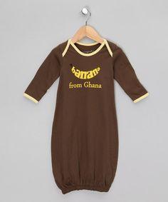 Tea Bark Brown Organic Gown - Infant by Awerganic