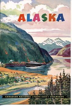 Dinner menu cover for August 1, 1954; S.S. Prince George. Pacific Coast Steamships. via ElectroSpark.