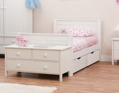 Classic Kids Single Bed White