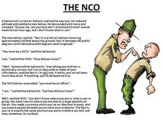 The NCO, this is so true!