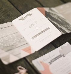 indie wedding invites | photo by Byron Loves Fawn Photography | 100 Layer Cake