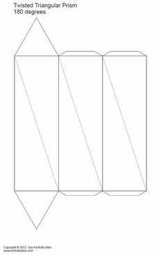 paper models of twisted pentagonal prisms Origami Shapes, Geometric Origami, Origami 3d, Paper Crafts Origami, Geometric Shapes, Geometric Solids, Tole Pliée, 3d Templates, Triangular Prism