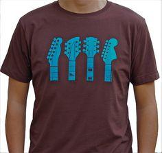 Guitar Headstocks T Shirt, notonthehighstreet.com