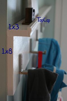 DIY coat rack for mud room. *explanation required: Build Something From Scratch - Check #diy #organize #mudroom