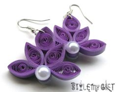 Lotus- Paper Quilled Earrings