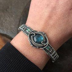 Wire Wrap Bracelet Opal Bracelet Labradorite Bracelet