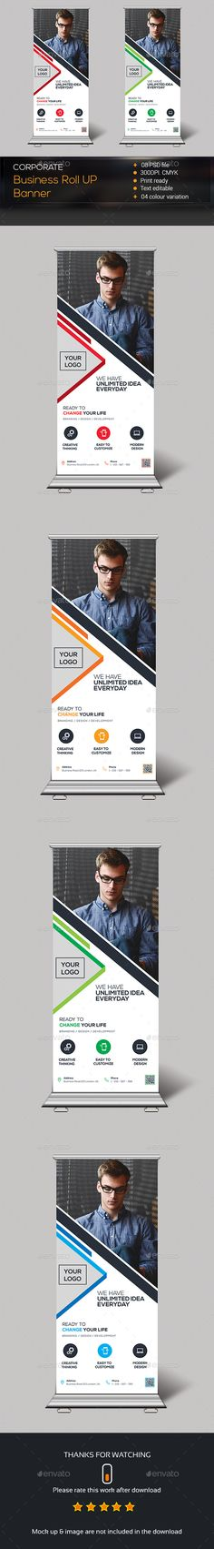 Buy Corporate Roll Up Banner by zeropixels on GraphicRiver. FEATURES: Easy Customizable and Editable Roll Up Banner in with bleed CMYK Color Design in 300 DPI Resolution. Creative Banners, Creative Design, Standing Banner Design, Banner Stands, Email Newsletters, Profile Design, Media Design, Poster On, Design Reference