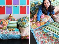 How to Create Your Own Colorful Jumbo Floor Pillows via Brit + Co.