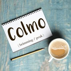 Parola del giorno / Word of the day: Colmo (brimming / peak). La tazza è colma di caffè. = The cup is full to the brim with coffee. Learn more about this word and see example phrases by visiting our website! #italian #italiano #italianlanguage #italianlessons