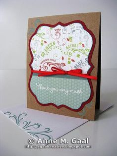 Thank You Very Much Card by Anne Gaal of Gaal Creative at http://www.gaalcreative.com - Feel free to re-pin! ♥