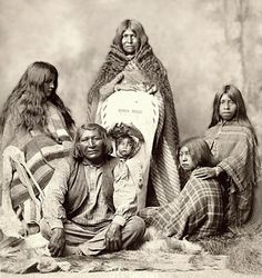 Ute man with two women, two children and a baby. National Anthropological Archives, Smithsonian Institution.