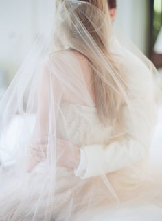 Wedding Veil -- Photography: Elizabeth Messina - kissthegroom.com on http://www.StyleMePretty.com/2014/04/01/blushing-black-tie-affair-at-the-four-seasons/