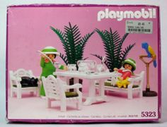 Playmobil Victorian Mansion Patio Set Dollhouse 5323 Vtg 1989