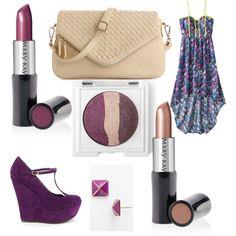 Try Berry Kiss Creme Lipstick and Sheer Blush Creme Lipstick; On the Horizon Eye Trio. http://www.marykay.com/kball8164