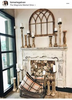 00 This fireplace…. Found at the magnolia market, waco, Texas. … This fireplace…. Found at the magnolia market, waco, Texas. Faux Fireplace Mantels, Vintage Fireplace, Brick Fireplace, Fireplace Ideas, Faux Mantle, Fireplaces, Fireplace Decorations, Antique Mantel, Vintage Mantle