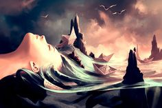 Between surreal and fantasy style, digital art by Cyril Rolando - ego-alterego.com