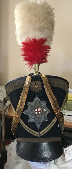 1821 Coldstream Guards officer's belltop ( Regency ) shako