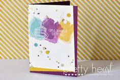 Pretty Heart, Papercraft by Jennifer Frost: Confetti - Creation Station Blog Hop #5