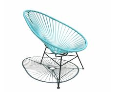 As an homage to the pacific resort of the the label OK Design brought the Acapulco Chair to the market. Characteristic for the Acapulco Chair by OK Desig Kids Furniture, Furniture Design, Outdoor Furniture, Chair Design, Home Deco, Mexican Chairs, Ok Design, Acapulco Chair, Mini Chair