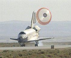 Space Shuttle Atlantis. Edwards Air Force Base, California.