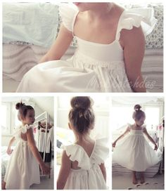 My niece will be the cutest flower girl in this simple little dress. Add a flower crown and she will be perfection!!