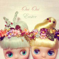 Little Dead Riding Hood with Cadre du Chat/Enchanted Faun/gurololita dress (antler headdress with skulls; bunny renaissance wig)