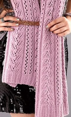 Scarf - Free Knitted Diagram - (woman7)