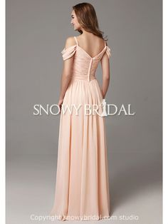 Spring Chiffon Elegant Spaghetti Strap Long Destination Full Length Bridesmaid Dress-US$89.99- StyleB2668-Snowy Bridal