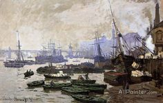 Claude Monet Boats In The Port Of London oil painting reproductions for sale
