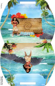 Moana Birthday Party, Moana Party, Girl Birthday, Disney Printables, Free Printables, Moana Boat, Bolo Moana, Paper Box Template, Printable Box