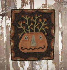 ~Primitive Hand Hooked Rug *BITTERSWEET JACK*~sold 125.00