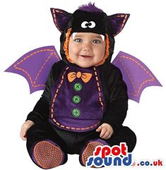 $$>  Cute Halloween Bat Baby Child Size Costume Disguise