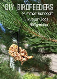 diy birdfeeder, summer boredom buster idea. summer. birdfeeder. birdseed, diy craft, inexpensive craft idea. kids craft, thrifty craft idea