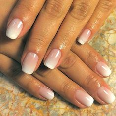 Ombré nails for brides