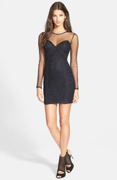 ASTR Paneled Body-Con Dress Black Small $68 TC #2609