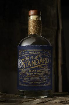 Old Standard Moonshine — The Dieline - Branding & Packaging