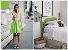 Fashion x decor: greenery pantone