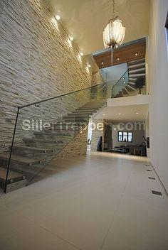escalera recta volada de vidrio MOUNTAIN Siller Stairs