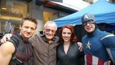 Captain America, Black Widow,  Hawkeye with Stan Lee :)