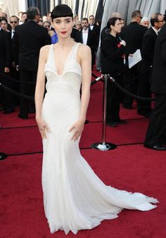 Rooney Mara's Givenchy dress is also very bridal