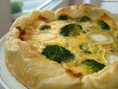 RECETA Quiche de brócoli y queso de cabra HortoGourmet/Broccoli and goat cheese quiché
