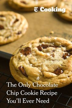 This may become your new favorite chocolate chip cookie recipe. It's a little more complicated, and you'll have to plan ahead, but the end result is a marvelously chewy, chocolate-rich cookie. Don't skimp on good chocolate, and the sea salt is not an option -- it's the beacon at the top of this gorgeous treat. (Photo: Francesco Tonelli for NYT)