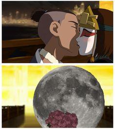 Sokka and Suki and the Moon. | Avatar the Last Airbender