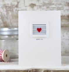 Love You Card by Laurie Willison for Papertrey Ink (November 2015)