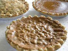 My favorite Thanksgiving pies Dutch Apple, Pecan, Maple Pumpkin