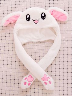 Material: PlushDimensions: height Stuffed & PlushColor: White rabbit,yellow pikachuProduct name: Cartoon capFilling: Inflatable Ears Style Kawaii, Mode Kawaii, Kawaii Fashion, Cute Fashion, Cute Birthday Gift, Mode Kpop, Bunny Hat, Kawaii Accessories, Animal Hats
