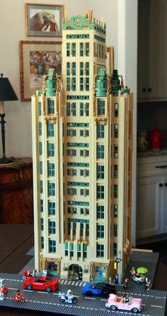 Paradox Tower: An Art Deco LEGO Skyscraper by Rick Vaum Lego Modular, Lego Moc, Lego Duplo, Lego Skyscraper, Deco Lego, Lego Hospital, Art Deco, Lego Blocks, Cool Lego Creations